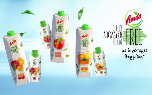 Amita FREE: New Lower-Calorie Juice